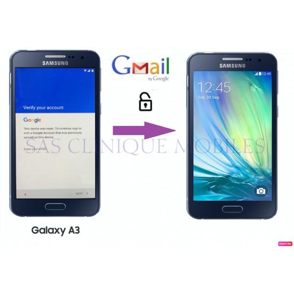 Déblocage Compte Google Samsung